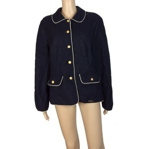 Like new! Geiger black button up jacket blazer